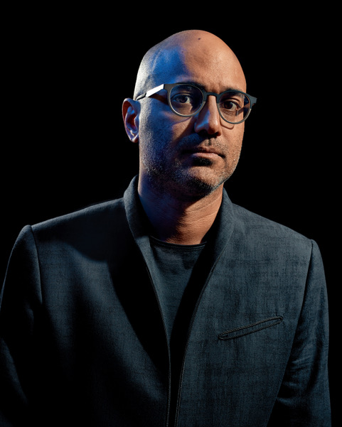 New York, NY – August 7th, 2017: Ayad Akhtar posing for a portrait in New York.